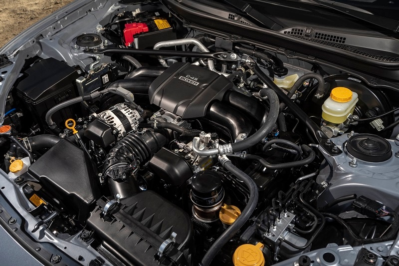 See the engine block of the 2022 Subaru BRZ