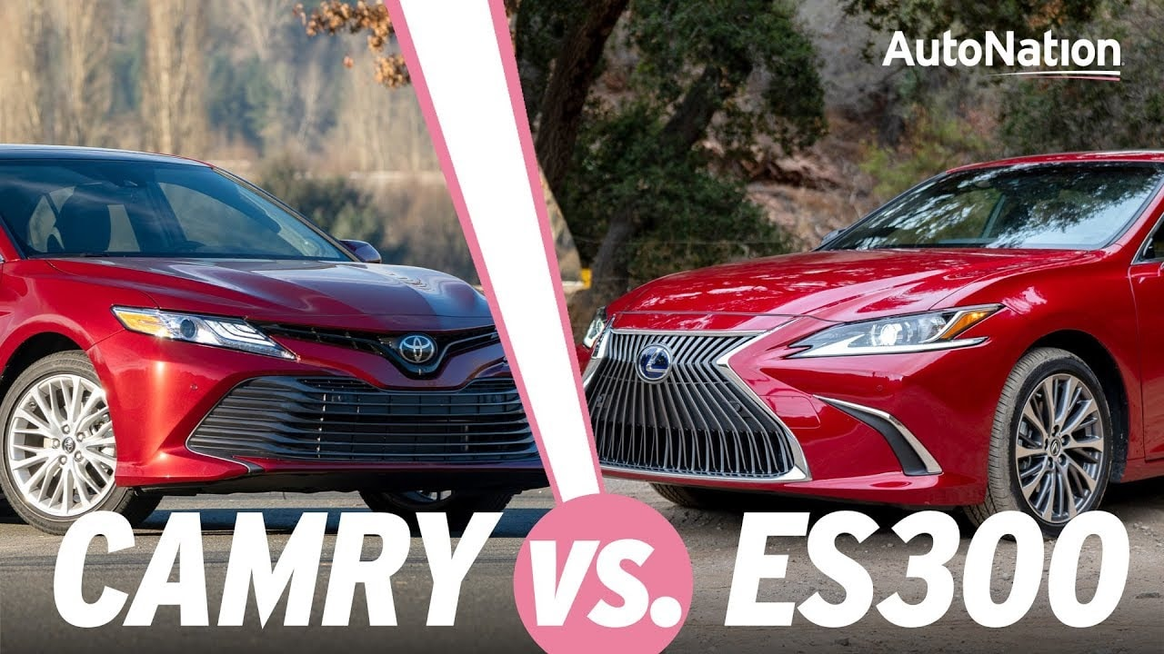 Image composition of the 2019 Lexus ES300 vs. 2019 Toyota Camry