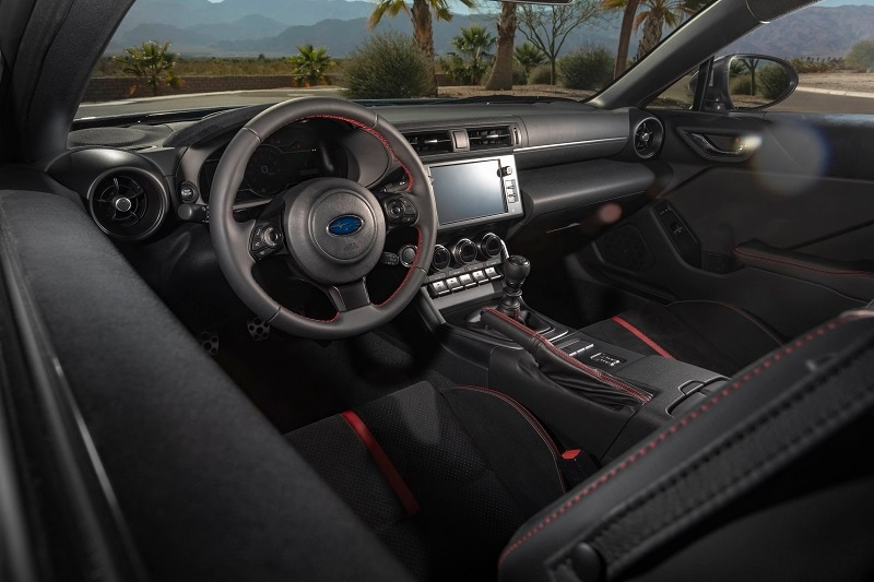 See the interior of the 2022 Subaru BRZ