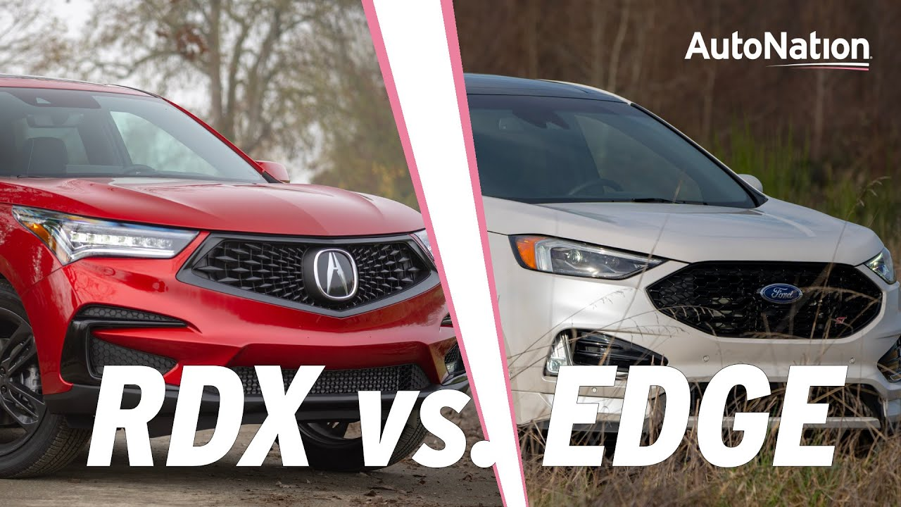 Image commposite of Acura RDX and Ford Edge vehicles