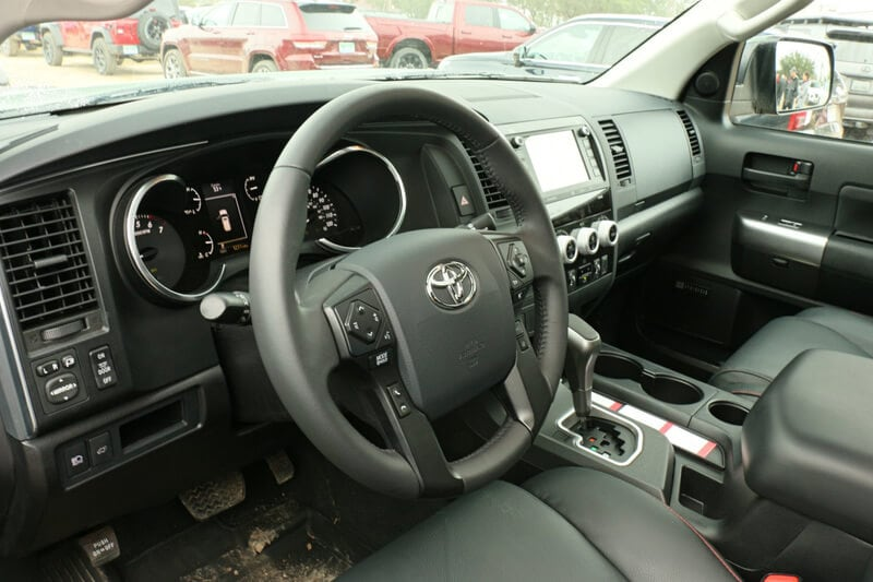 The cabin of the Toyota Sequoia is straightforward, but refined.
