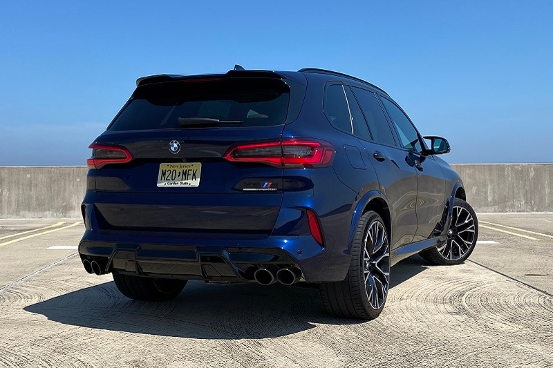 View the exterior of the 2020 BMW X5 M Competition