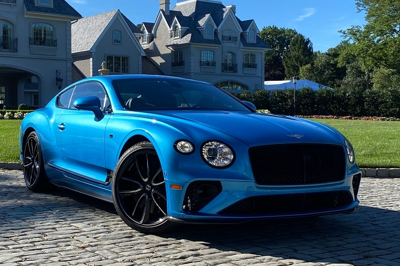Exterior view of the Bentley Continental GT V8