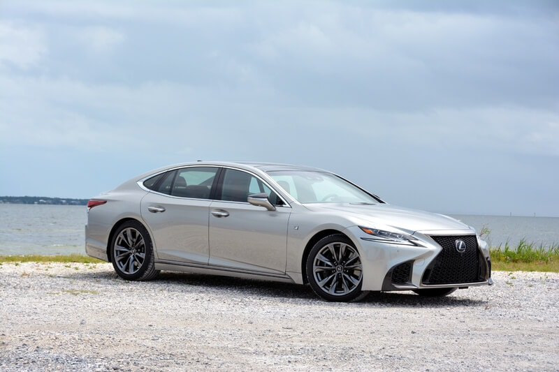 Exterior view of the 2019 Lexus LS 500