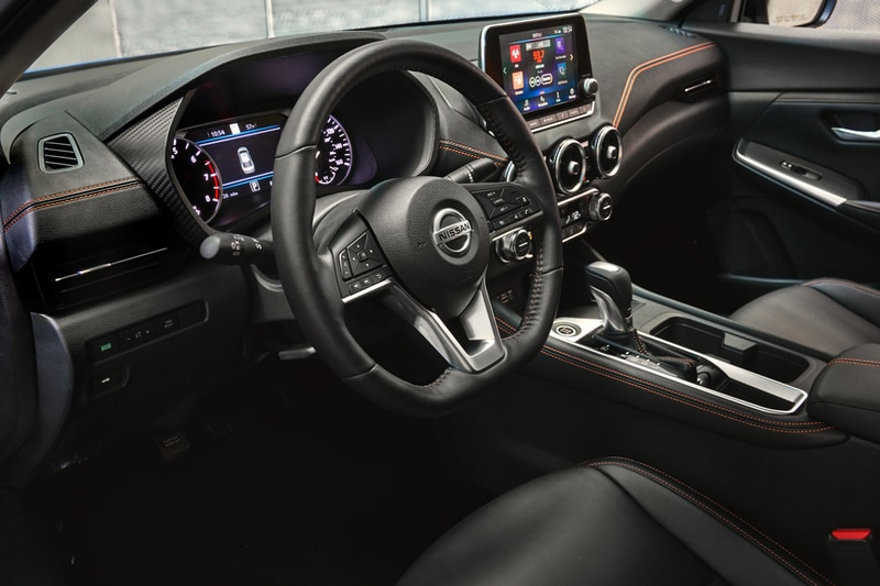 Nissan's renowned Zero Gravity front seats and a floating eight-inch screen give the cabin a premium feel.