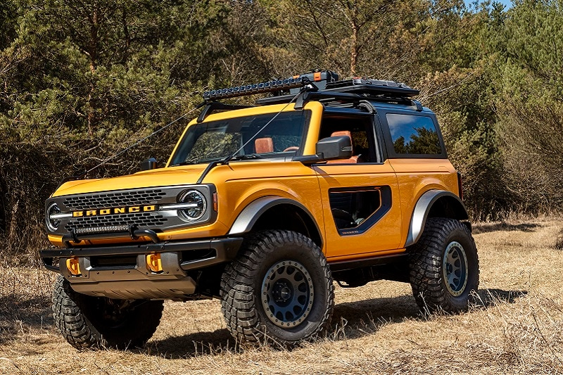 Exterior view of the Ford Bronco