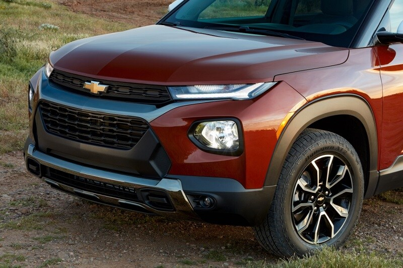 View of the engine block of the 2021 Chevrolet Trailblazer RS AWD