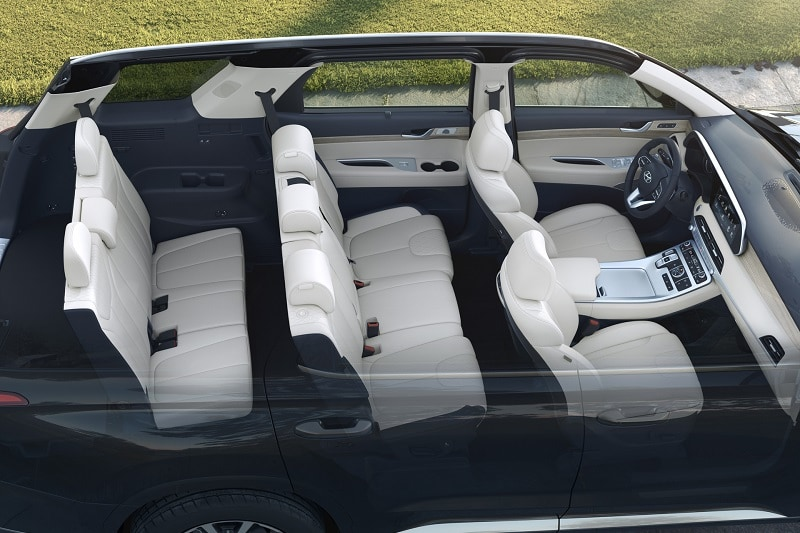 Top-down view of the Hyundai Palisade