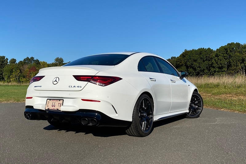 Exterior view of the 2020 Mercedes-AMG CLA 45