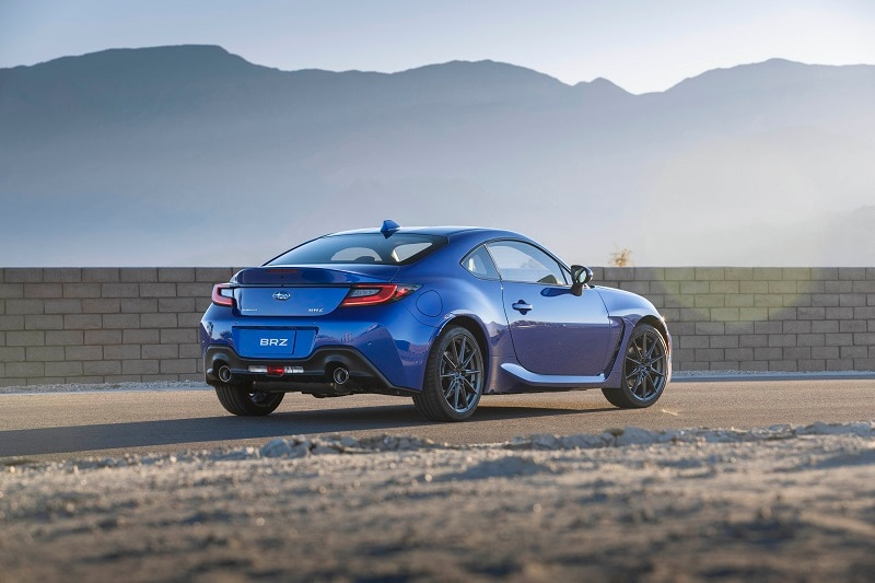 See the exterior of the 2022 Subaru BRZ