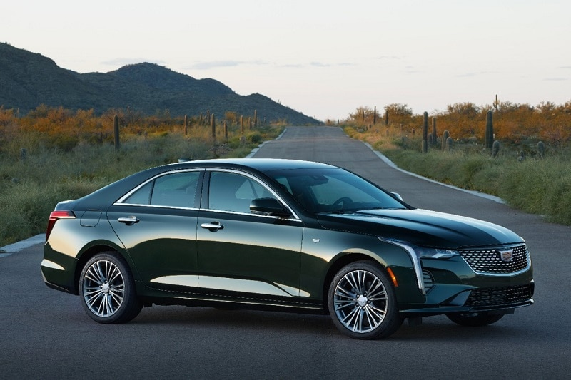 See the exterior of the 2020 Cadillac CT4 Premium Luxury AWD