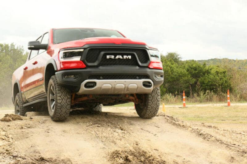 The air suspension in the RAM 1500 makes off-road obstacles a breeze.