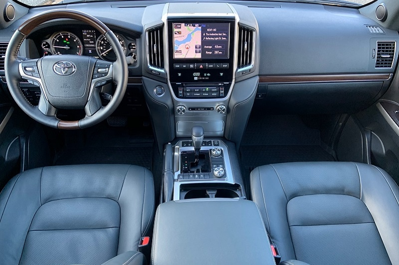 Interior view of the 2021 Toyota Land Cruiser Heritage Edition