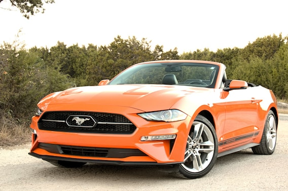 See the exterior of the 2020 Ford Mustang EcoBoost Premium Convertible