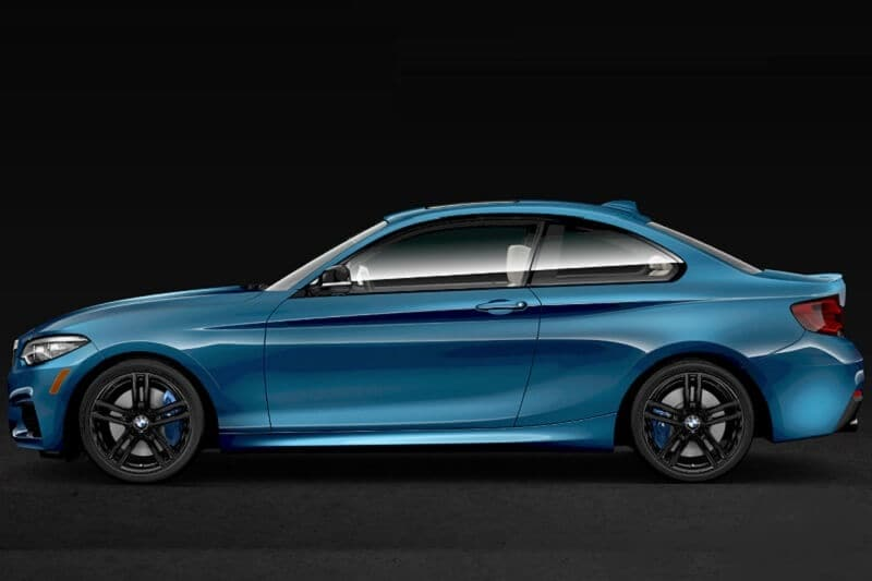 The 2020 BMW M240i in Long Beach Blue Metallic