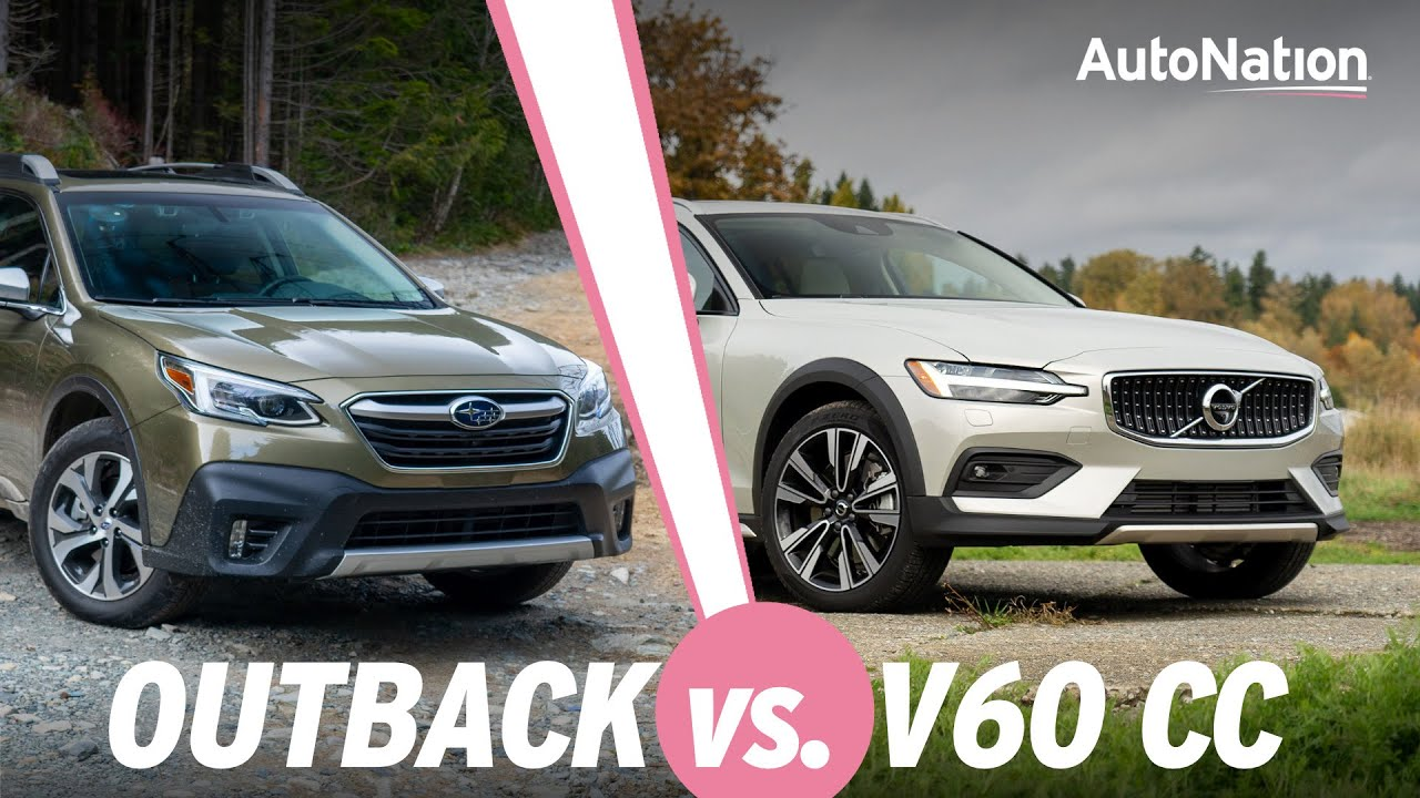 Image composition of the 2020 Subaru Outback vs. 2020 Volvo V60