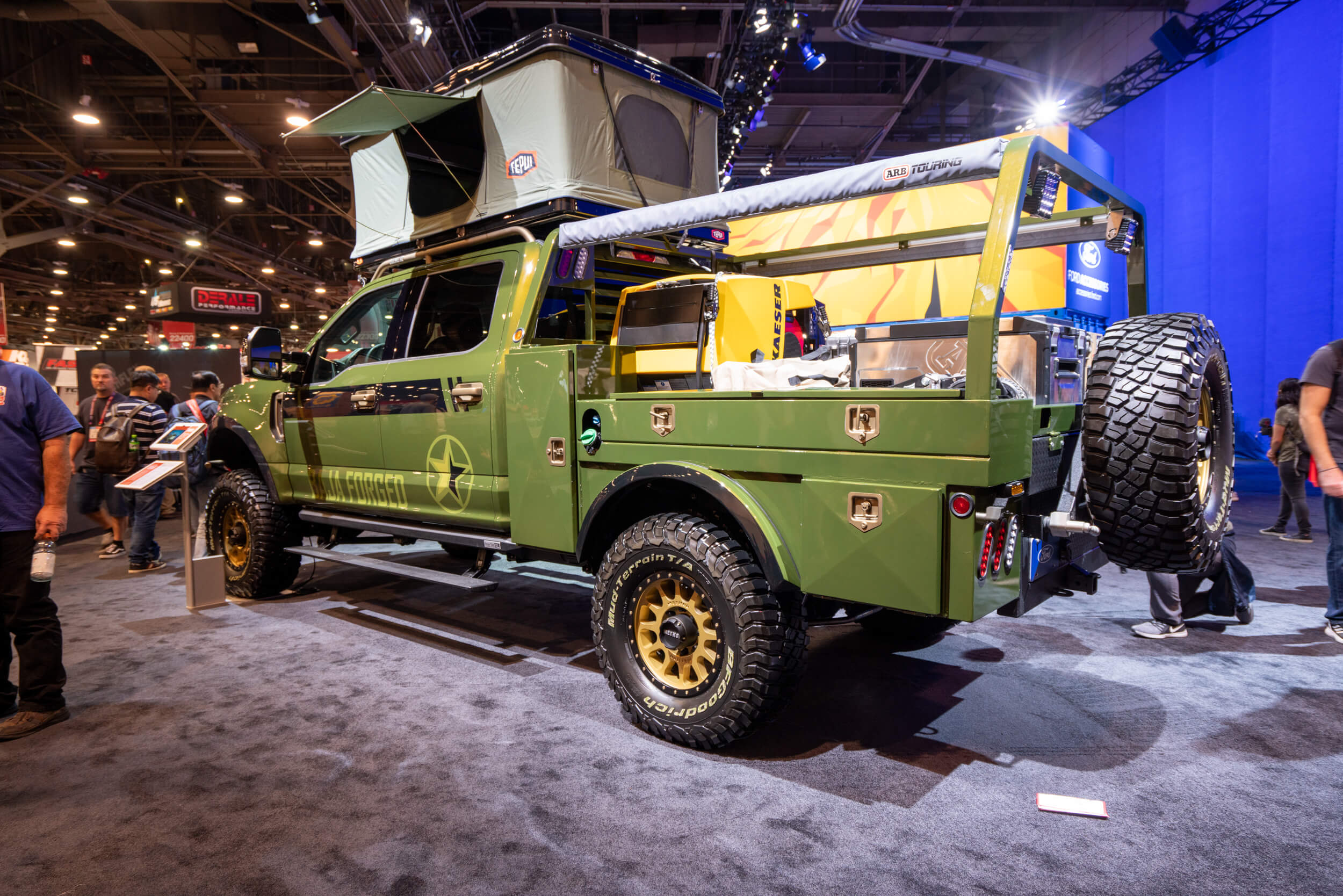 Even if you're not a camper, you'll admit this Ford F-350 with a roof tent looks amazing.