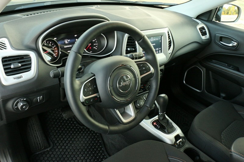 The Compass Upland has a seven-inch touchscreen which features FCA's excellent Uconnect 4.