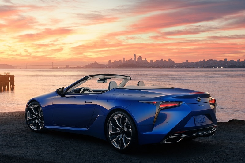 Exterior view of the 2021 Lexus LC 500 convertible