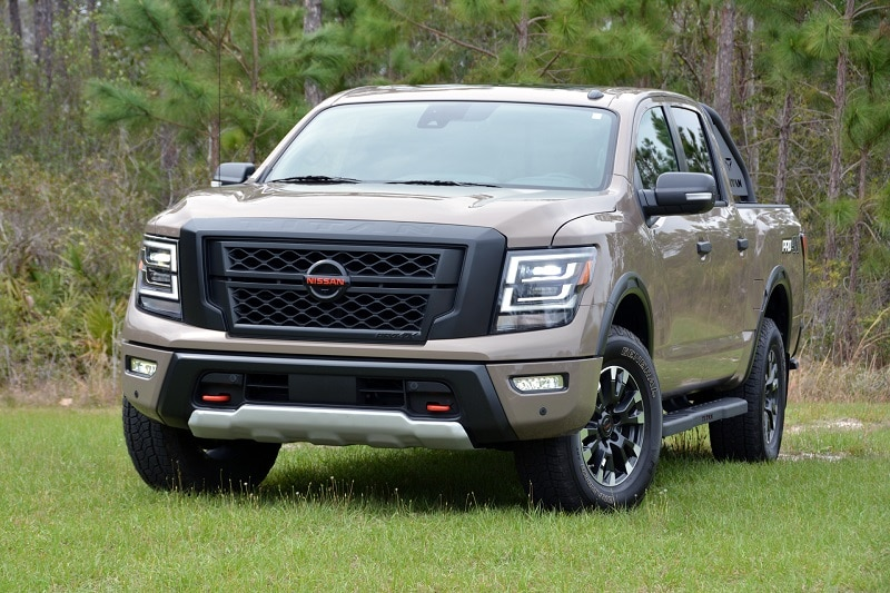 Exterior view of the 2021 Nissan Titan Pro-4X