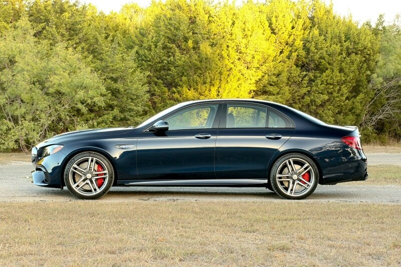 Side view of black 2019 Mercedes-AMG E 63 S