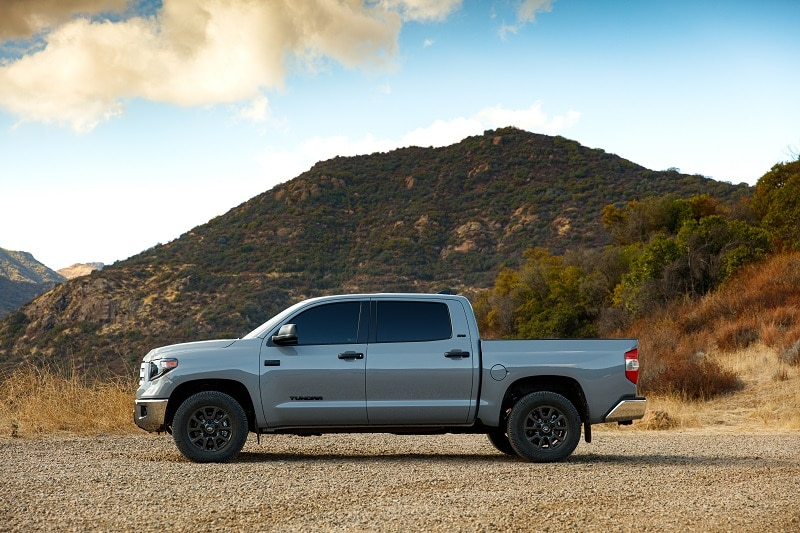 Exterior view of the Toyota Tundra