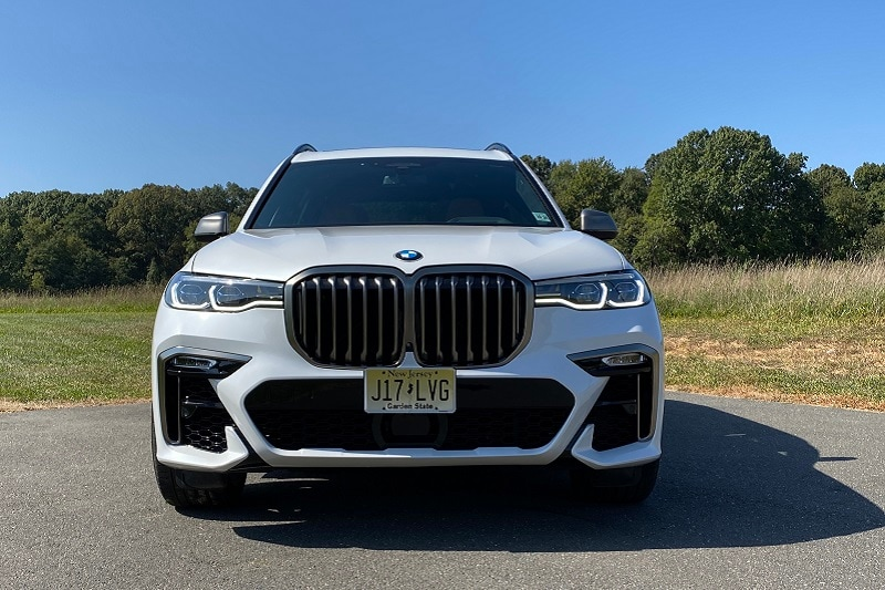 View of the safety features of the 2021 BMW X7 M50i