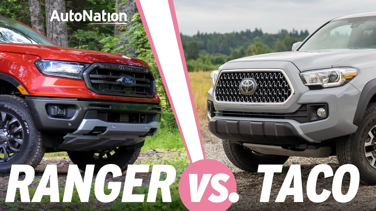 Image composition of the 2019 Ford Ranger vs. 2019 Toyota Tacoma