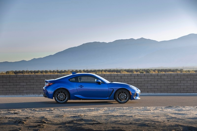 View the exterior of the 2022 Subaru BRZ