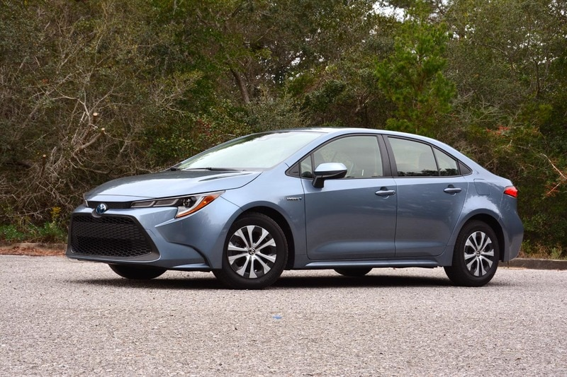 See the exterior of the 2020 Toyota Corolla Hybrid