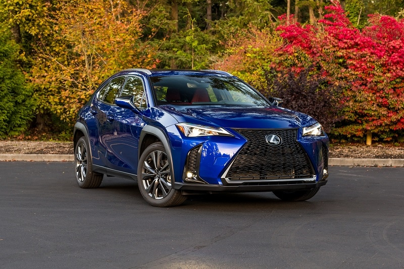Exterior view of the 2021 Lexus UX F Sport