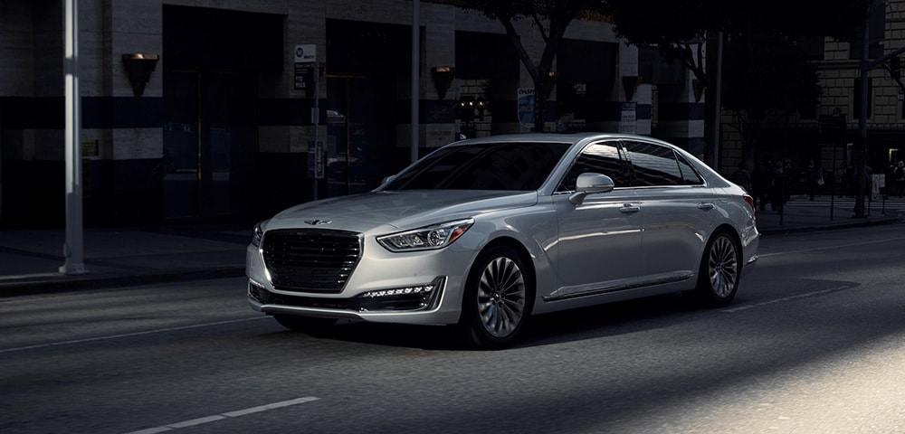 Front photo of 2018 Genesis G90