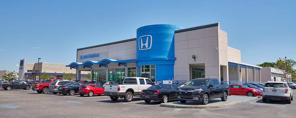 Exterior view of AutoNation Honda at Bel Air Mall serving Prichard