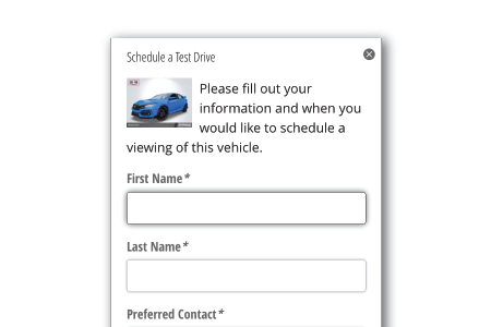 Screenshot of a schedule application form