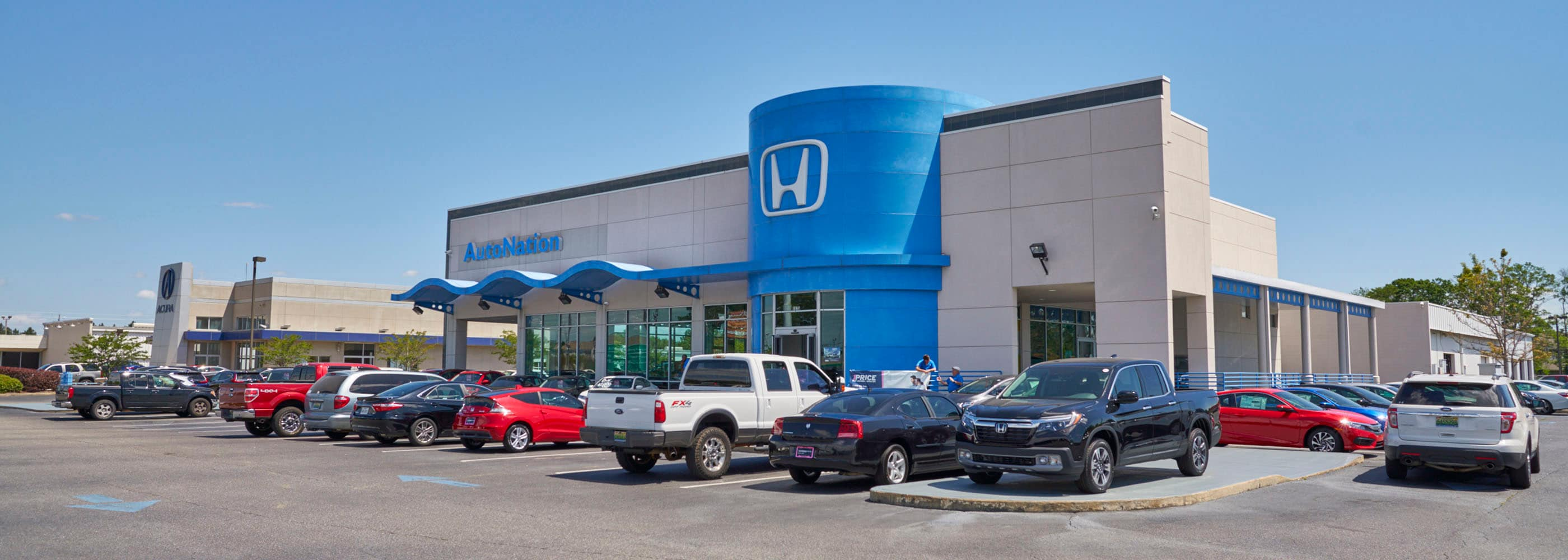 Exterior view of AutoNation Honda Tucson Auto Mall