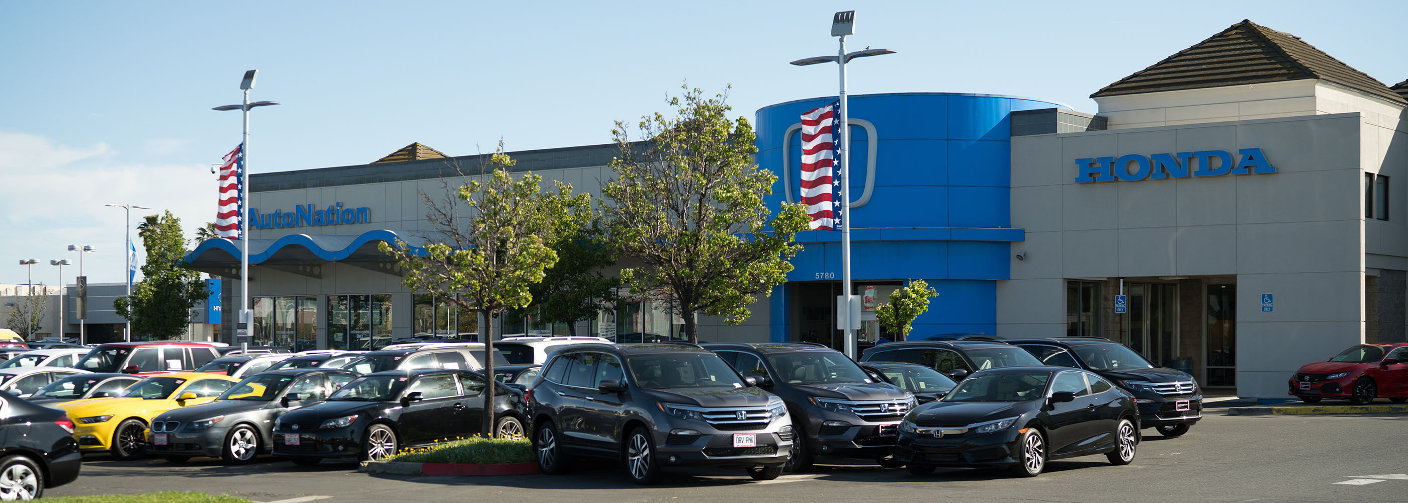 Outside view of AutoNation Honda Fremont