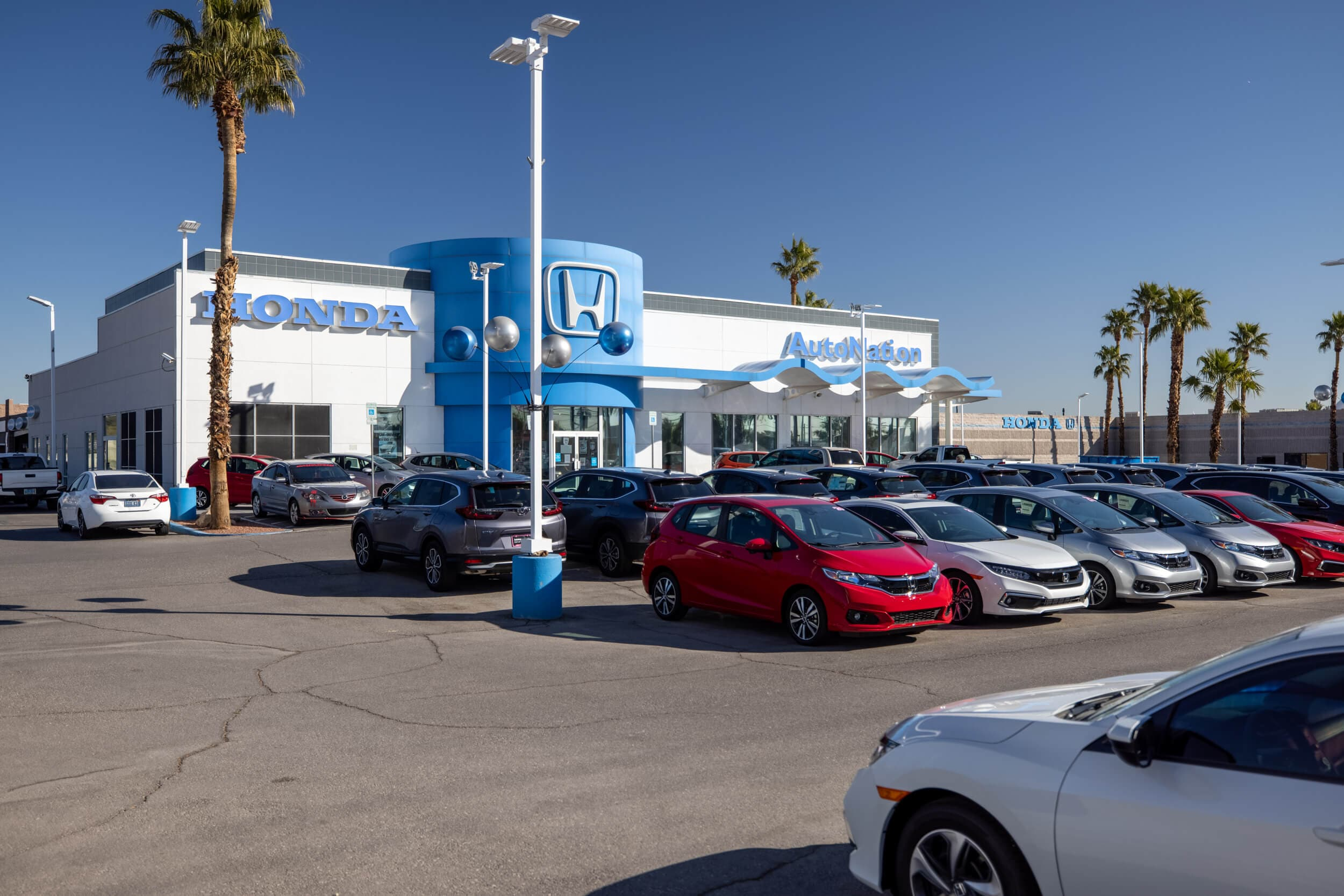 Exterior view of AutoNation Honda East Las Vegas