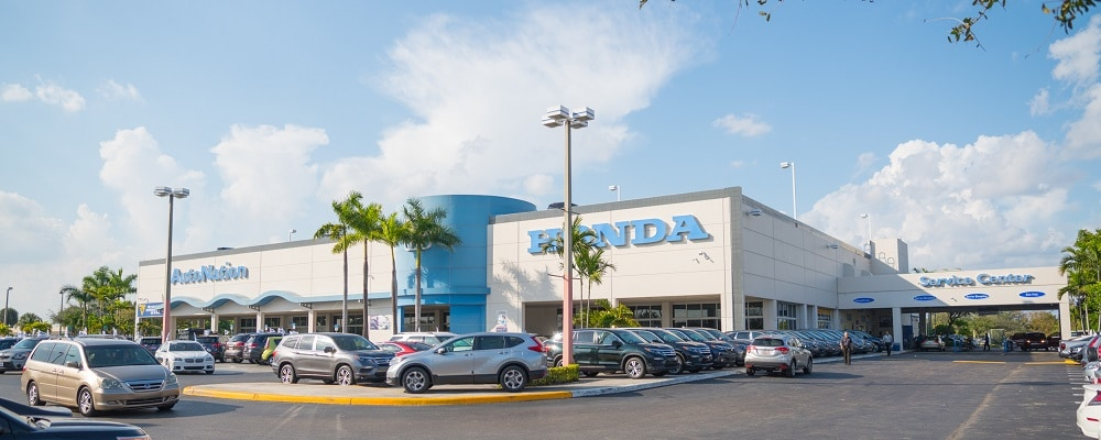 Exterior view of AutoNation Honda Miami Lakes