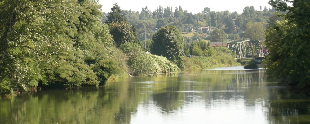 View of Duwamish River near Tukwila, WA