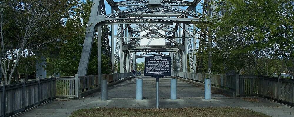 Charming View Of Lake Monroe Bridge Near Sanford, FL