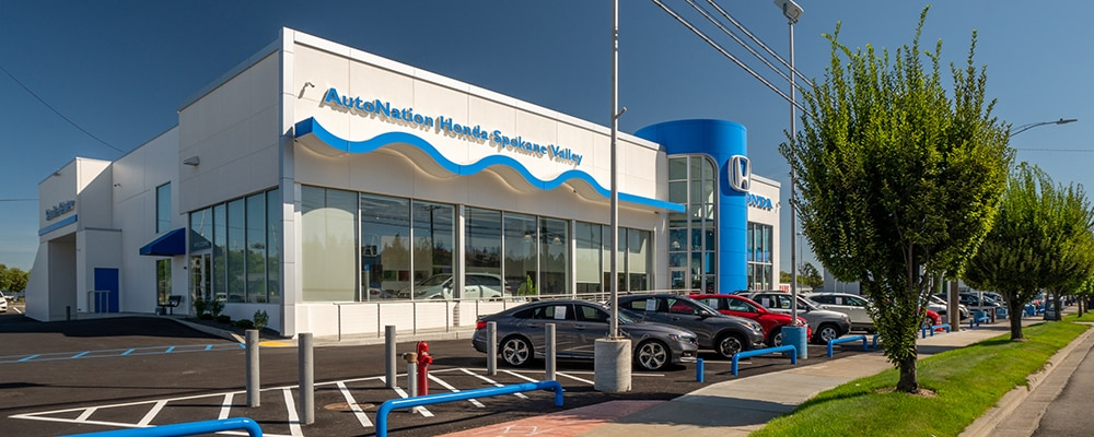 Outside view of AutoNation Honda Spokane Valley