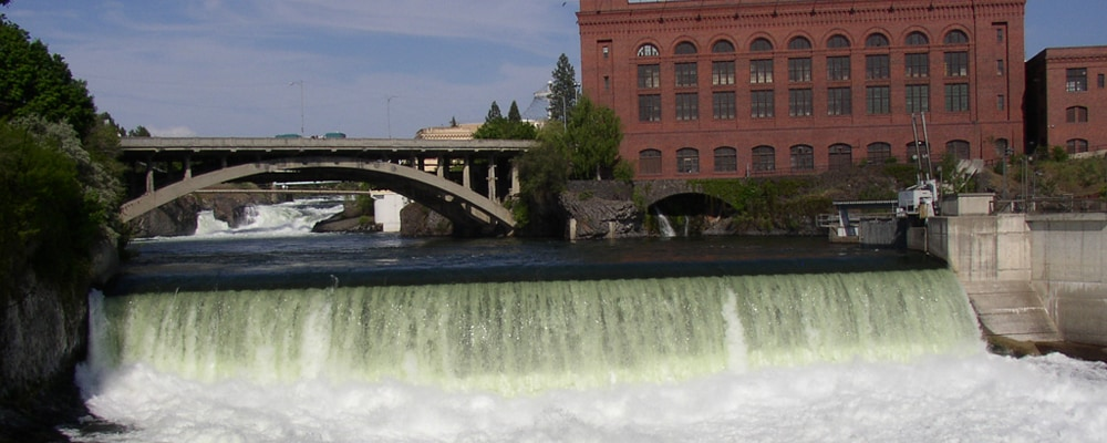 View of Spokane River near Millwood, WA