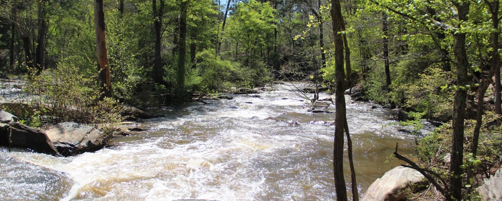 View of Sweetwater Creek near Lithia Springs, GA