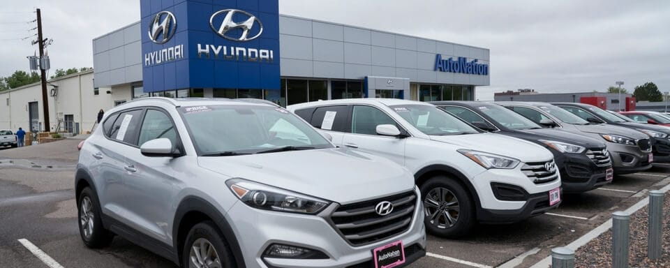 Exterior view of AutoNation Hyundai 104 during the day
