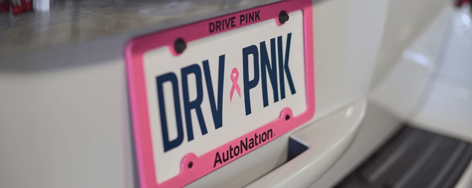 AutoNation Drive Pink license plate frame