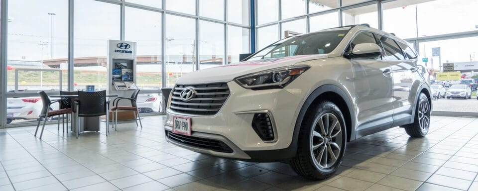 AutoNation Hyundai North Richland Hills finance department with Hyundai vehicle for sale