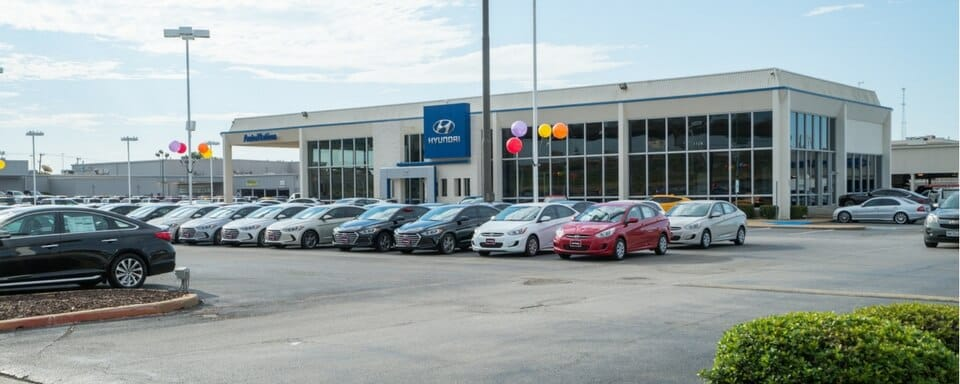 Exterior view of AutoNation Hyundai North Richland Hills