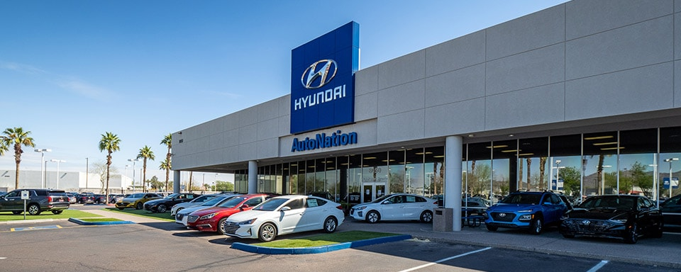 Outside view of AutoNation Hyundai Tempe