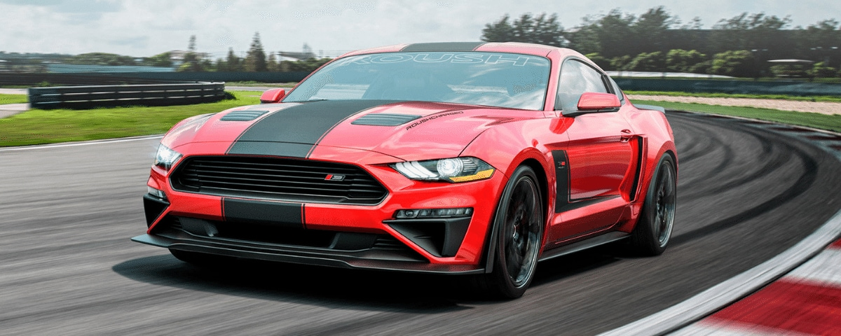 Red ROUSH Mustang Stage 3