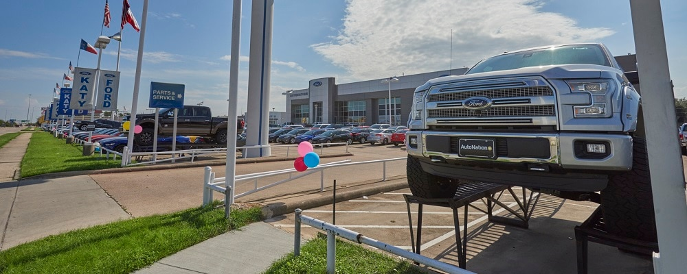 Outside view of AutoNation Ford Katy